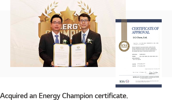 Acquired an Energy Champion certificate.